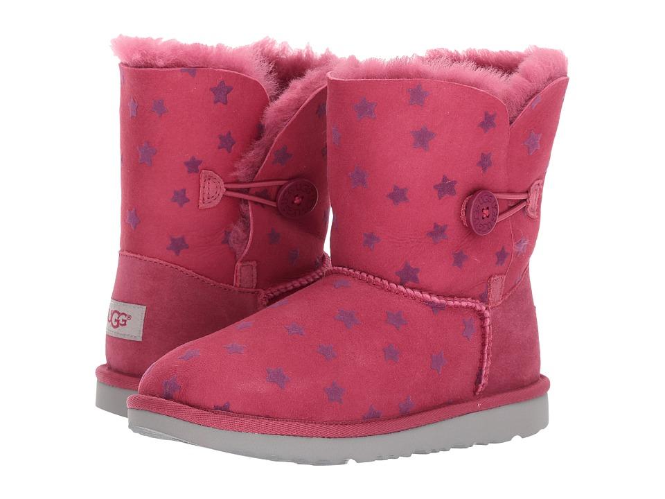 UGG Kids Bailey Button II Stars (Little Kid/Big Kid) (Brambleberry) Girls Shoes