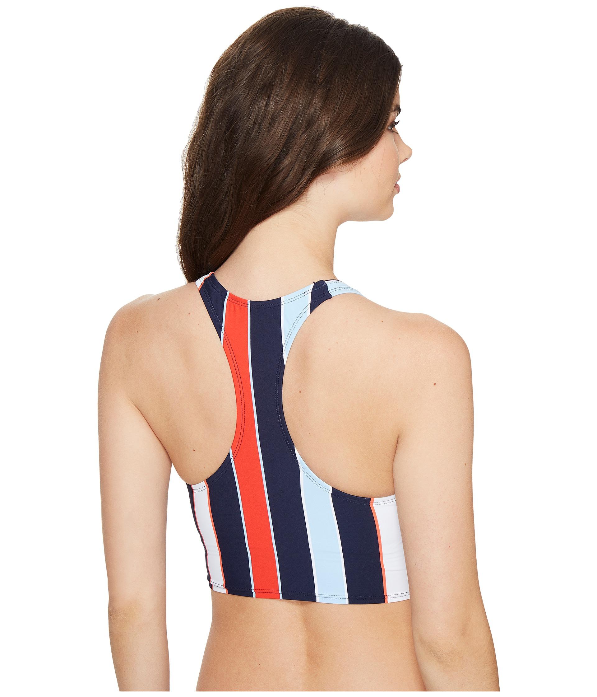 tommy hilfiger speedy stripe high neck crop bikini top free shipping both ways. Black Bedroom Furniture Sets. Home Design Ideas