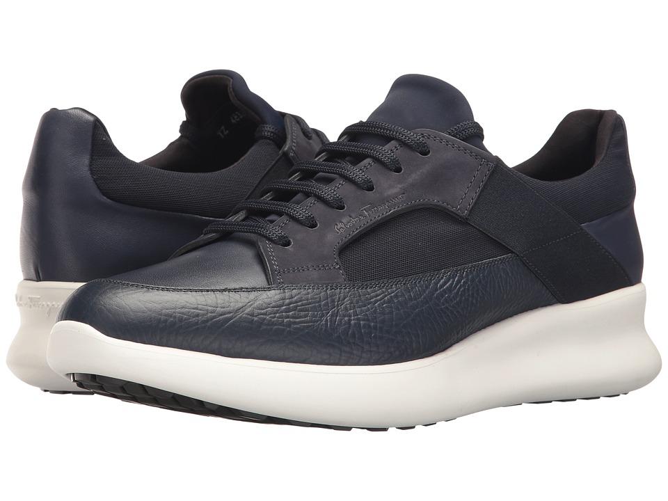 Salvatore Ferragamo Duo Sneaker (Blue Marine) Men's Shoes