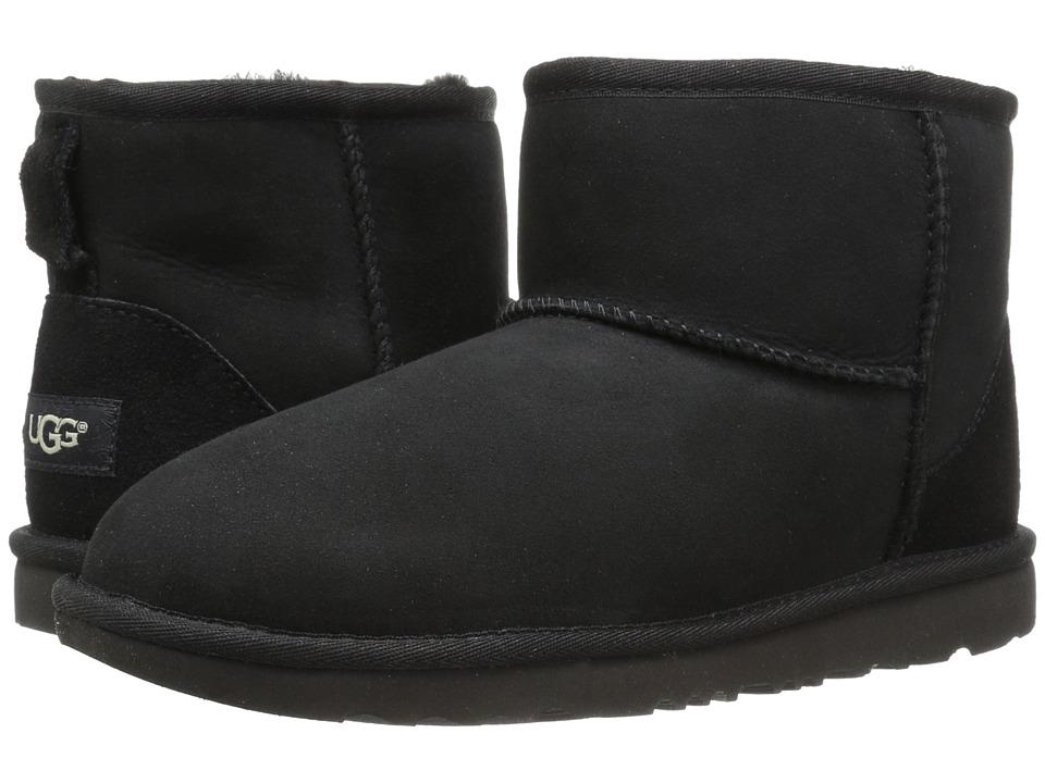 UGG Kids Classic Mini II (Little Kid/Big Kid) (Black) Kids Shoes