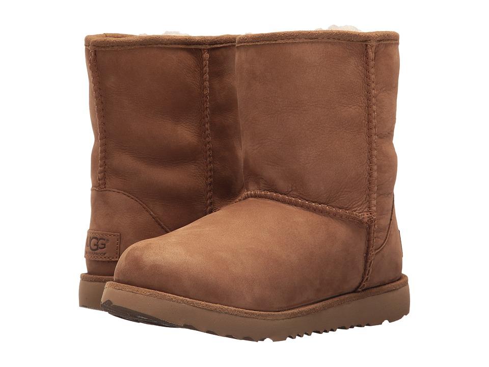 UGG Kids Classic Short II Waterproof (Little Kid/Big Kid) (Chestnut) Kids Shoes