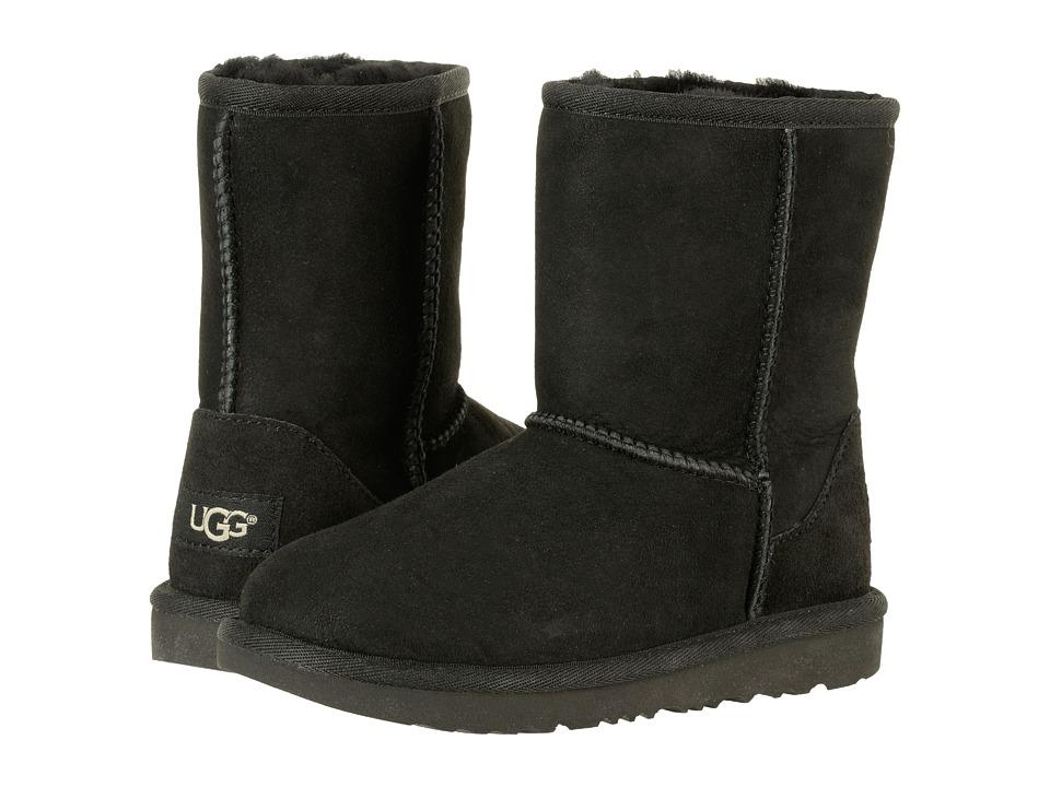 UGG Kids Classic II (Little Kid/Big Kid) (Black) Kids Shoes