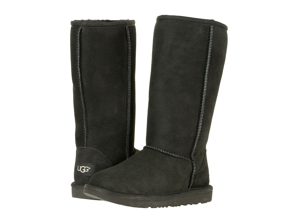 Ugg Kids - Classic Tall II (Little Kid/Big Kid) (Black) G...
