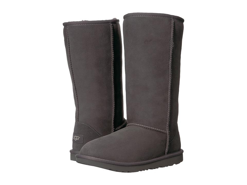 UGG Kids Classic Tall II (Little Kid/Big Kid) (Grey) Girls Shoes