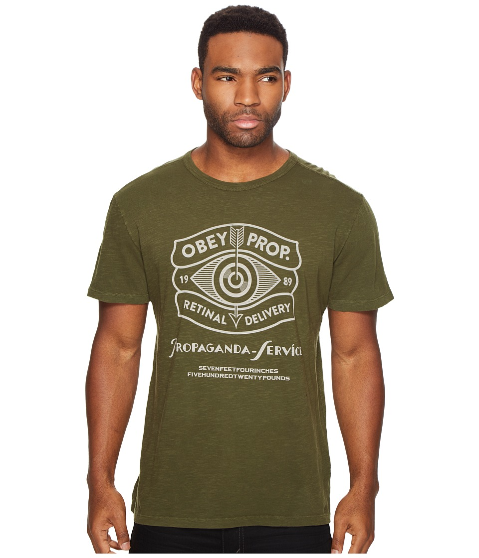 Obey Retinal Delivery Tee (Army) Men