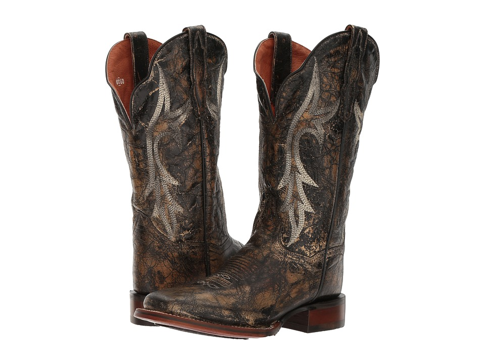 Dan Post Reign (Black Distressed) Cowboy Boots