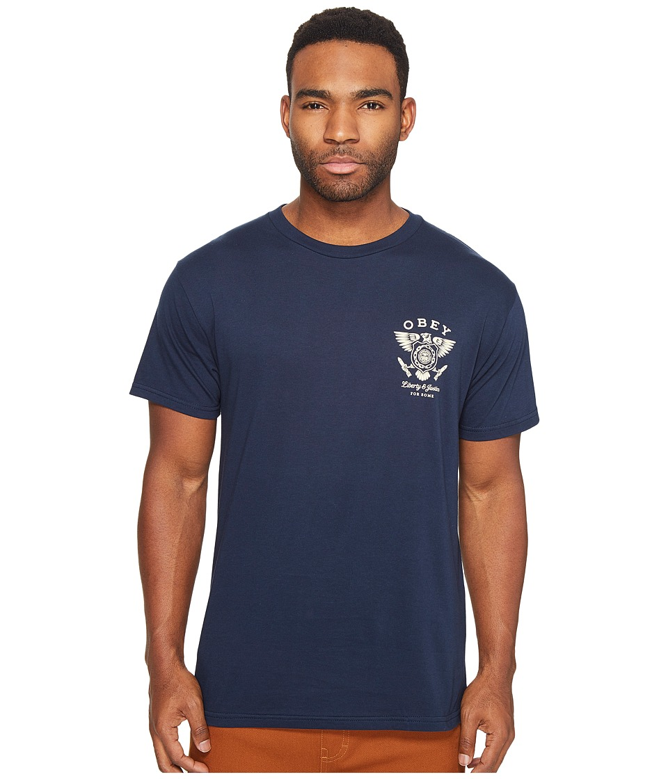 Obey Liberty Justice Tee (Navy) Men
