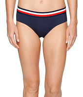 Tommy Hilfiger - Signature Stripe Elastic Hipster Bikini Bottom