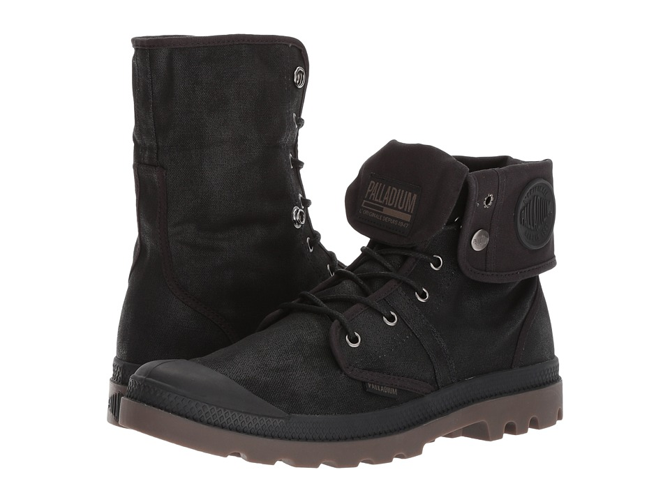 Palladium Pallabrouse BGY Wax (Black/Dark Gum) Athletic Shoes