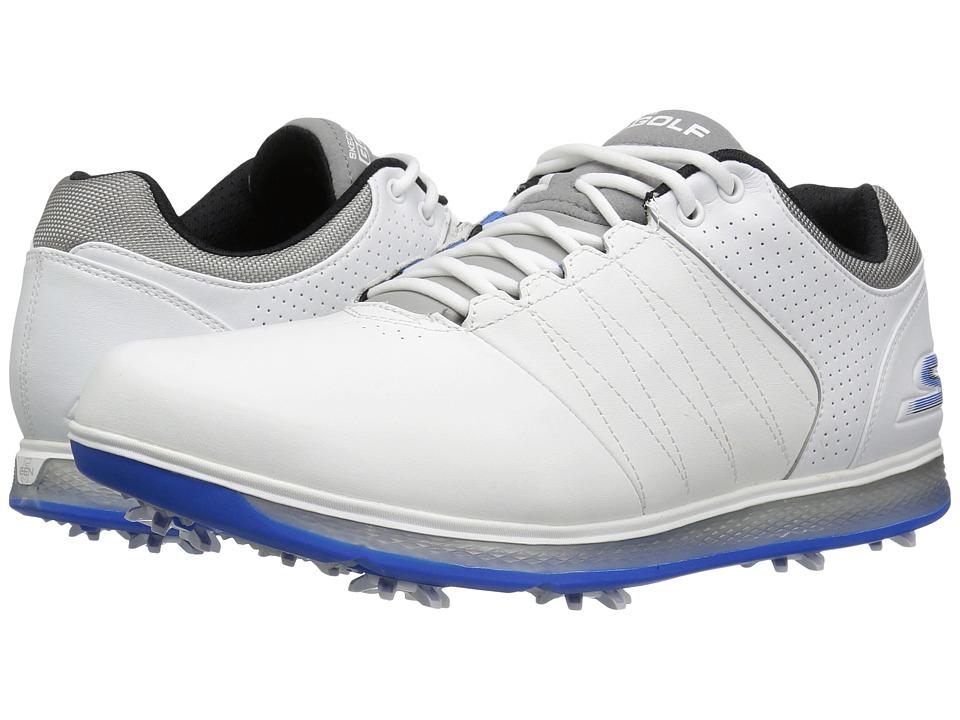 SKECHERS Go Golf Pro 2 (White/Grey/Blue) Men