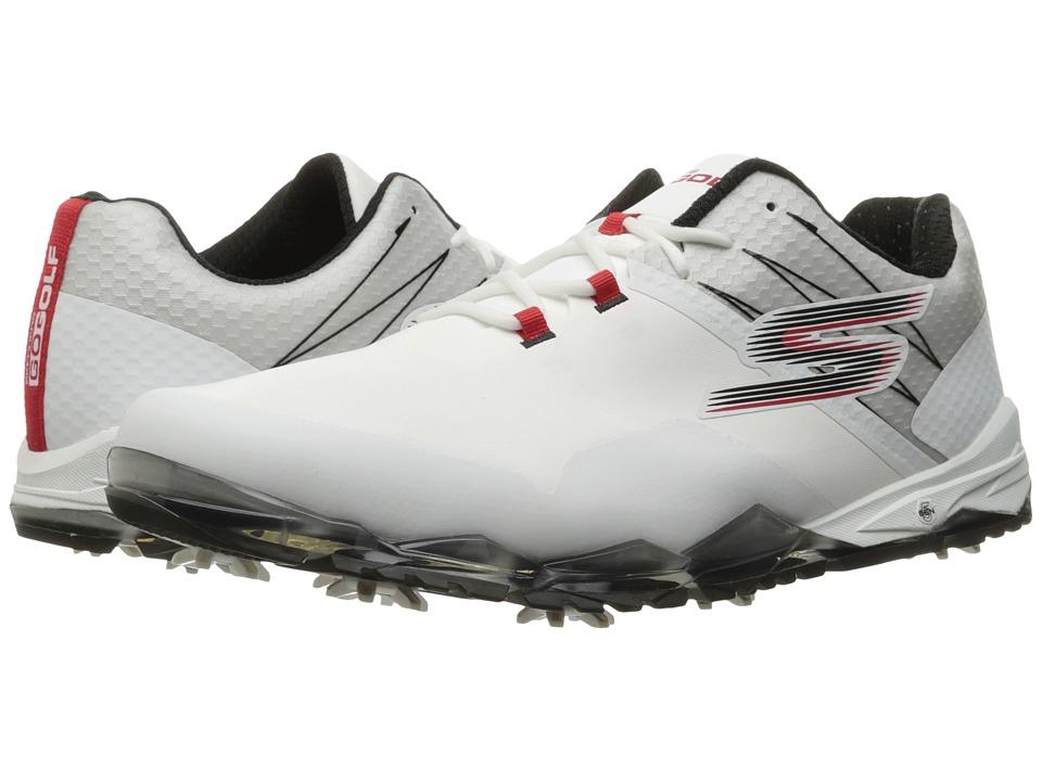SKECHERS Go Golf Focus (White/Black/Red) Men