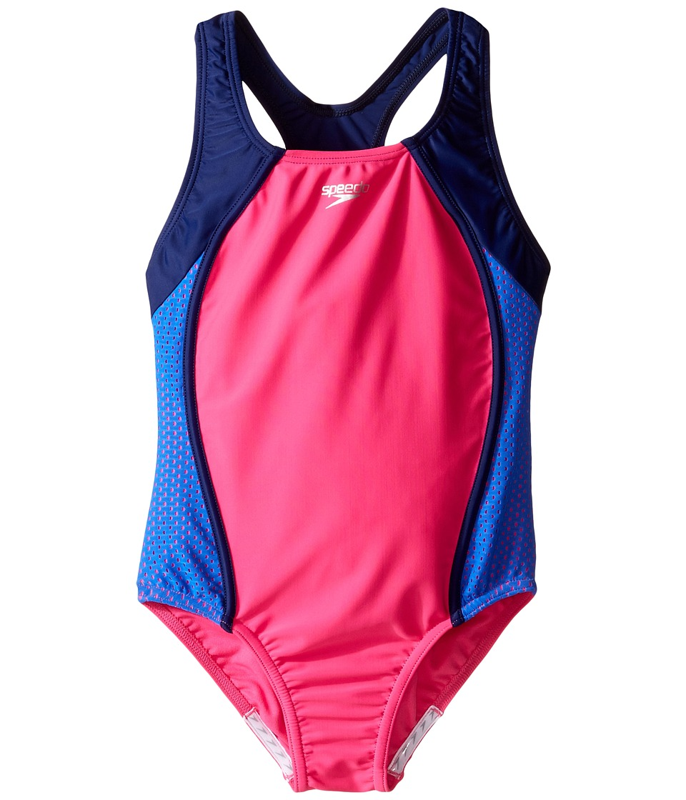 Speedo Kids - Mesh Splice Thick Strap One-Piece Swimsuit