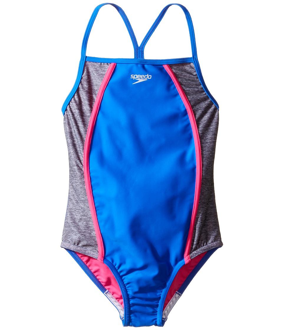 Speedo Kids - Heather Splice One-Piece Swimsuit