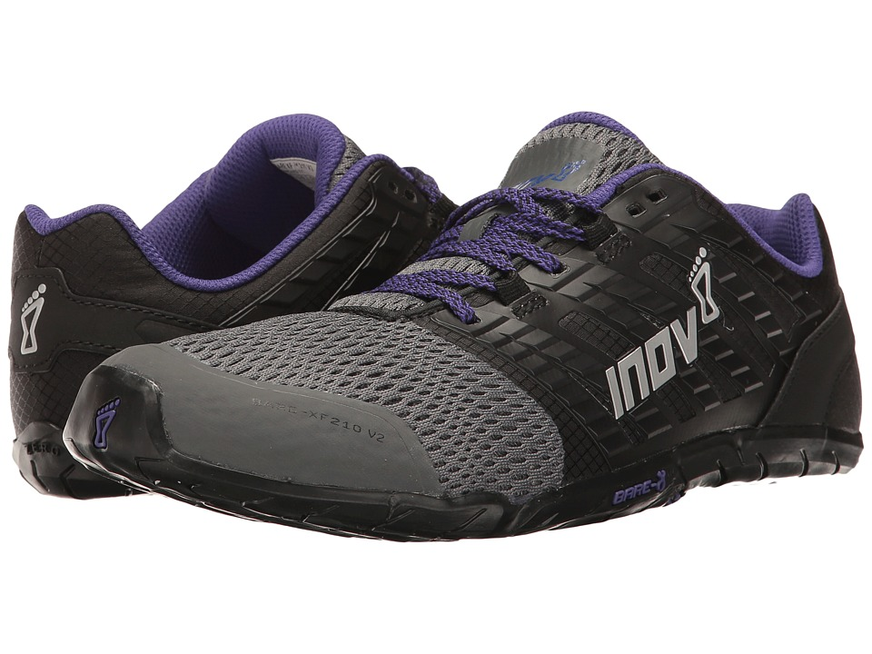 inov-8 Bare-XF 210 V2 (Grey/Black/Purple) Women's Running Shoes