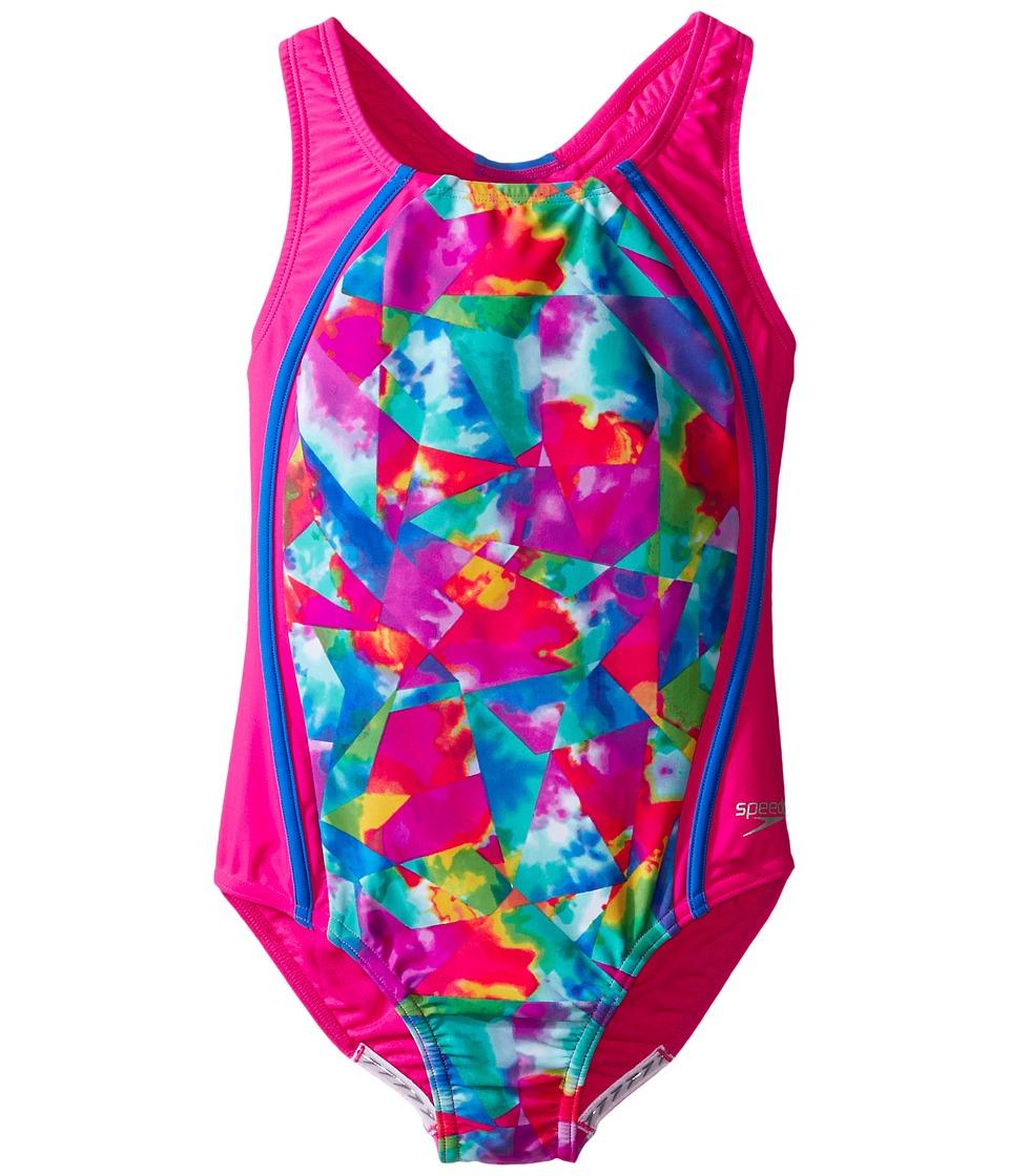 Speedo Kids - Tie-Dye Sky Sport Splice One-Piece Swimsuit...