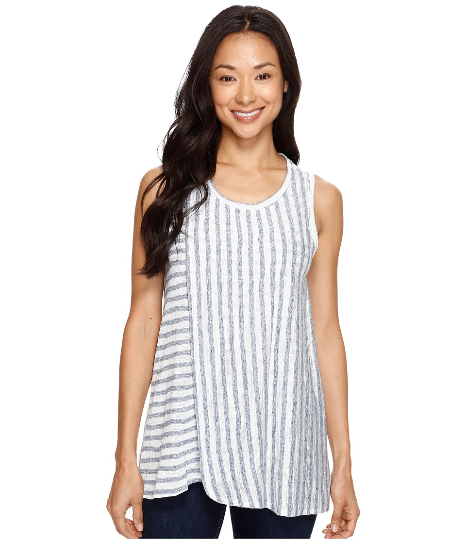 TWO by Vince Camuto - Sleeveless Sheer Stripe Faux Wrap Tank Top