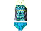 Speedo Kids - Digi Zigzag Heather Two-Piece Tankini Swimsuit Set (Big Kids)