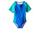 Speedo Kids - Short Sleeve Zip One-Piece Swimsuit (Infant/Toddler)
