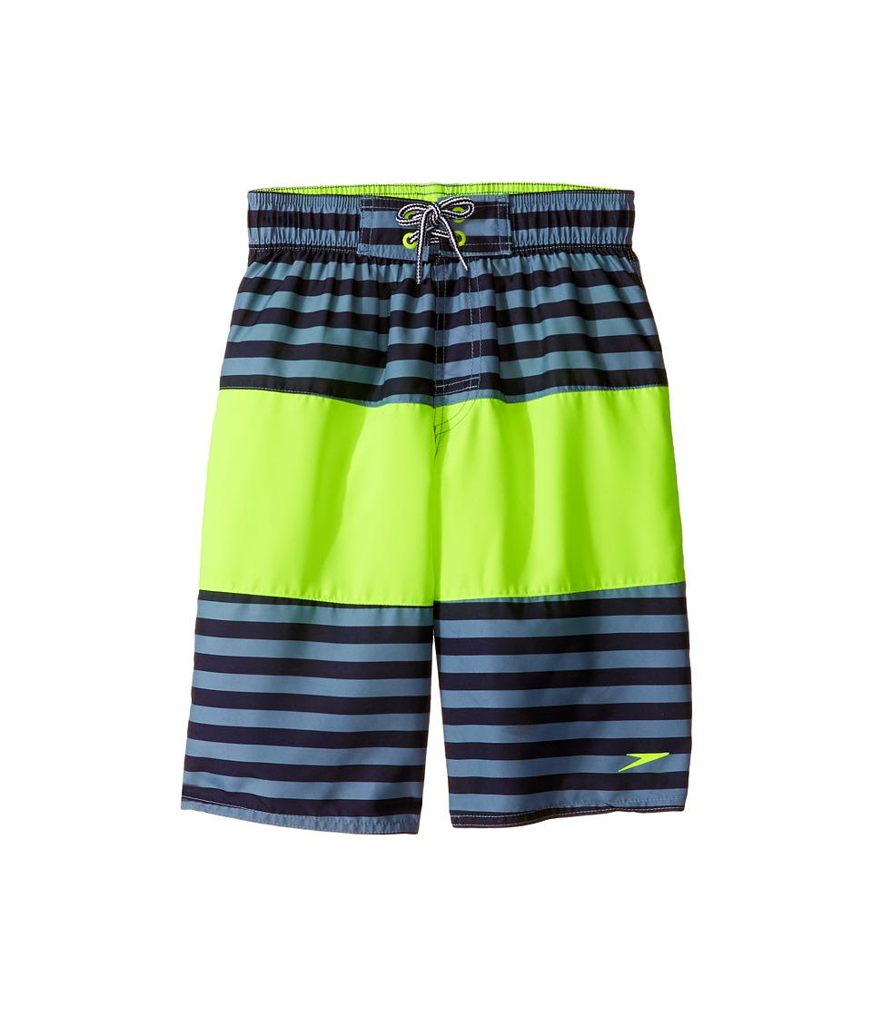Speedo Kids - Bold Striped Blocked Volley Shorts