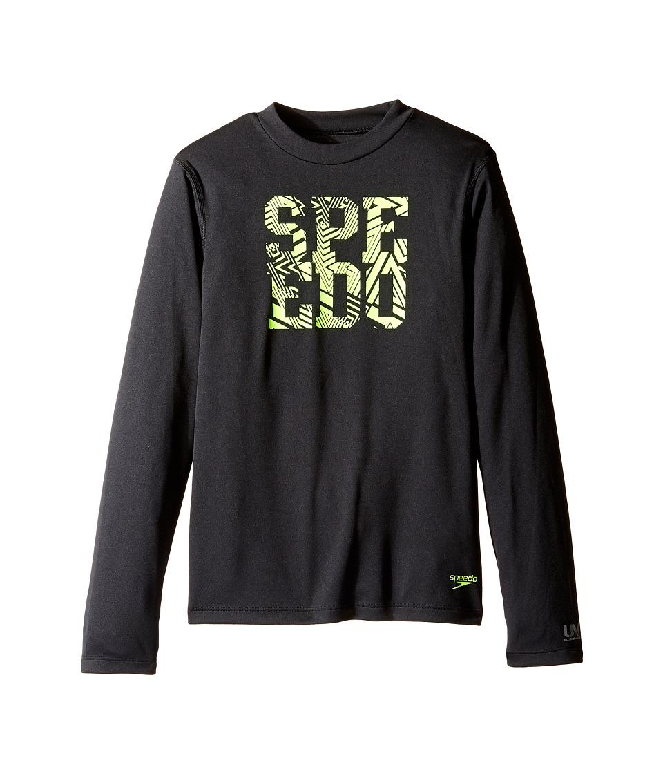 Speedo Kids - Zip Zing Logo Long Sleeve Swim Tee