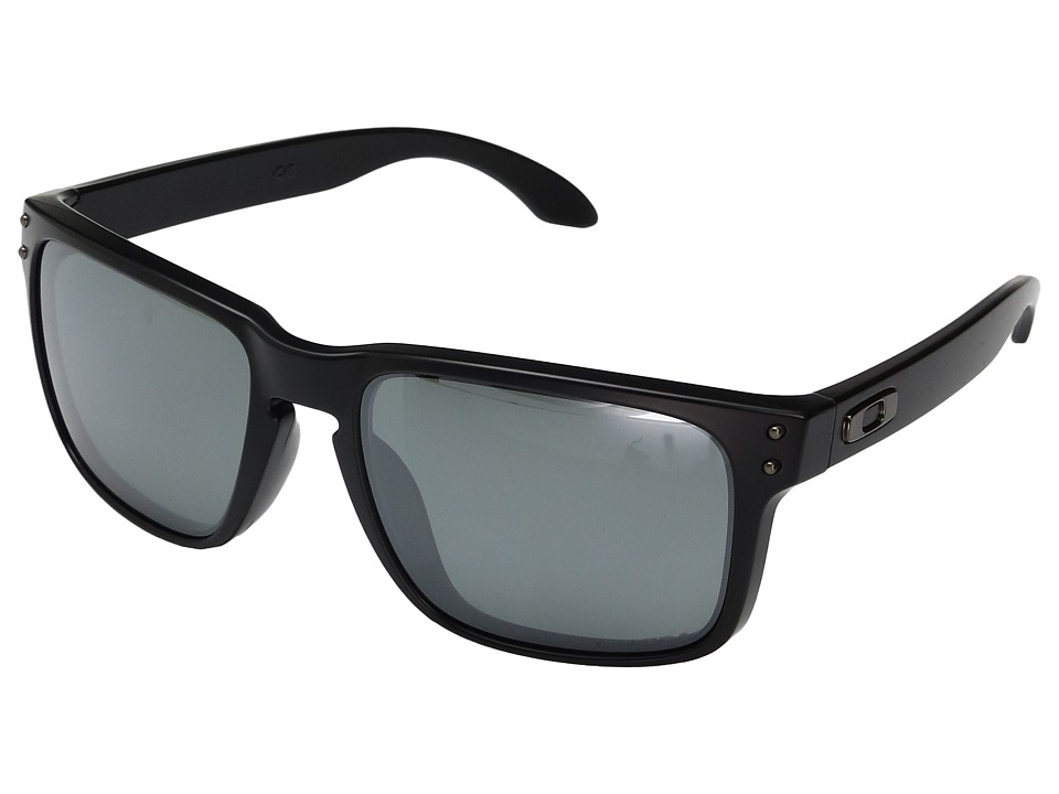 Oakley Holbrook (Matte Black w/ Prizm Black Polarized) Sport Sunglasses