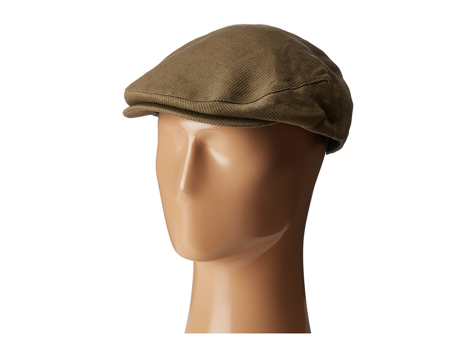 1930s Style Mens Hats Brixton - Hooligan Snap Cap Light OliveOlive Caps $39.00 AT vintagedancer.com