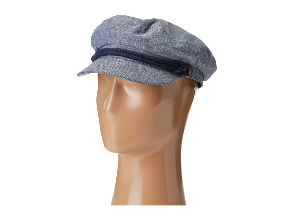 1940s Style Mens Hats Brixton - Fiddler Light BlueNavy 1 Traditional Hats $42.00 AT vintagedancer.com