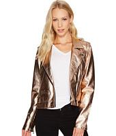 Blank NYC - Metallic Moto Jacket in Rose Gold