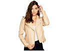 Blank NYC Blank NYC Natural Vegan Leather Moto Jacket in Natural Light