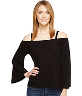 Michael Stars - Jersey Lycra Cropped Off Shoulder Top