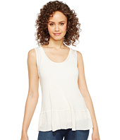 Michael Stars - Hemp Jersey Scoop Neck Flounce Tank Top