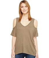 Michael Stars - Hemp Jersey V-Neck Cold Shoulder Tee