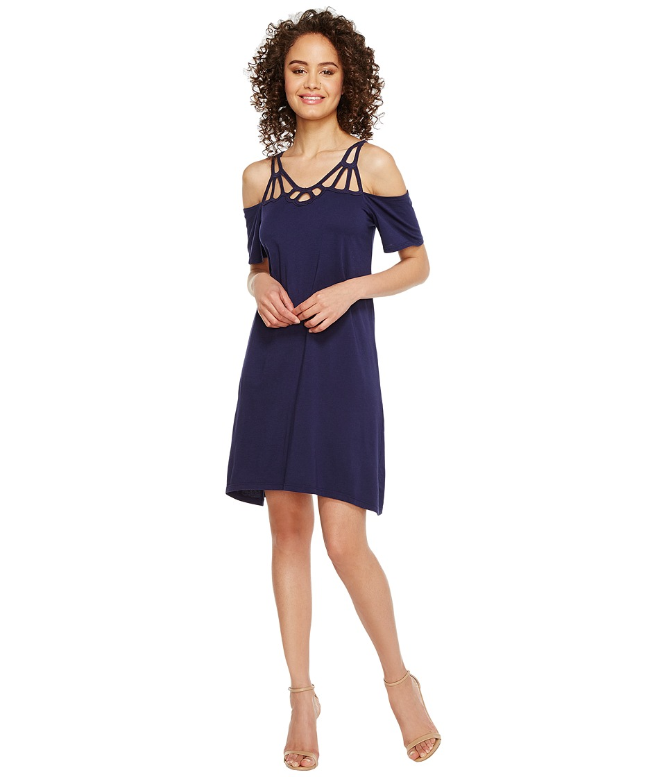 Michael Stars Scoop Neck Goddess Dress (Nocturnal) Women