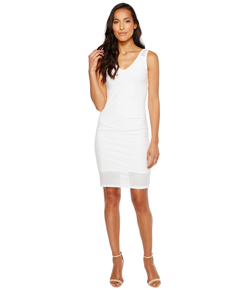 Michael Stars Mesh V-Neck Dress (White) Women
