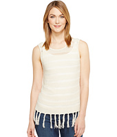 Michael Stars - Lightweight Knit Crew Neck Fringe Tank Top