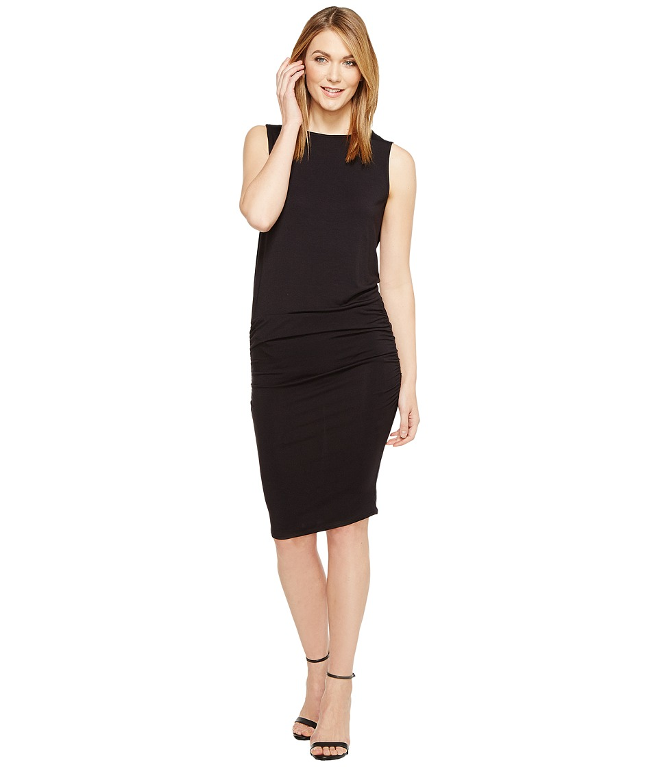 Michael Stars Sleeveless Dress with Shirring (Black) Women