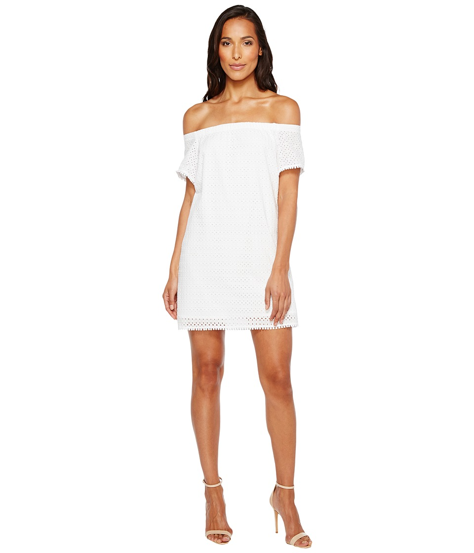 Michael Stars Eyelet Off the Shoulder Dress (White) Women
