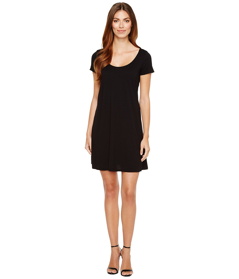 Michael Stars Scoop Neck Mini Dress (Black) Women