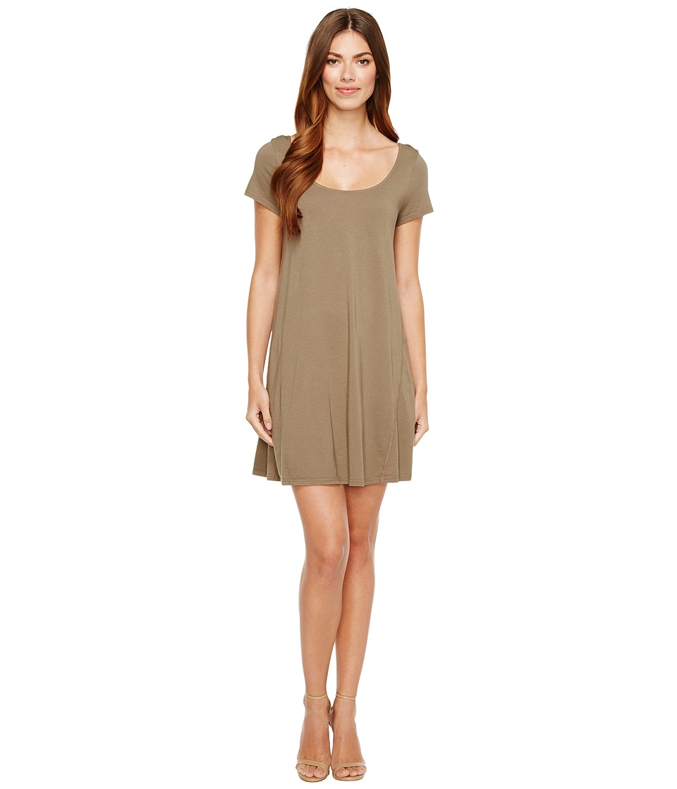 Michael Stars Scoop Neck Mini Dress (Olive Moss) Women