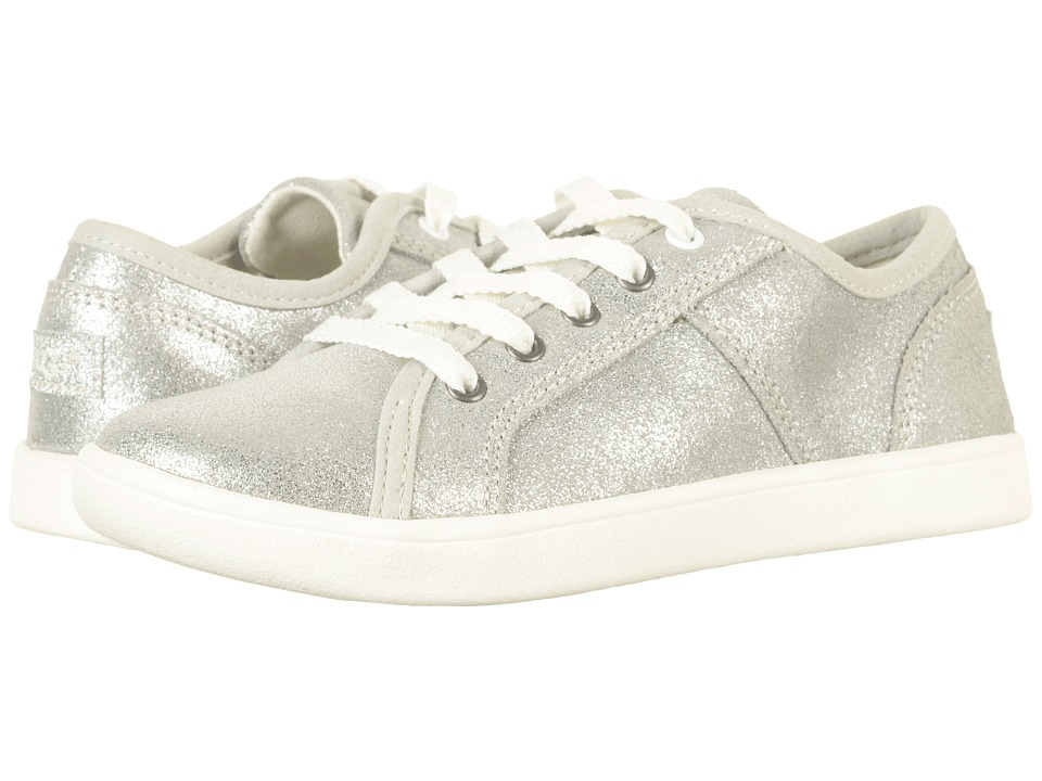 UGG Kids Irvin Metallic (Little Kid/Big Kid) (Silver) Girl's Shoes