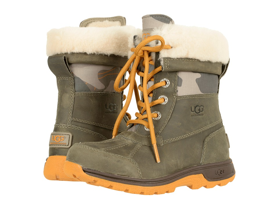 UGG Kids Butte II Camo (Toddler/Little Kid/Big Kid) (Brindle) Kids Shoes