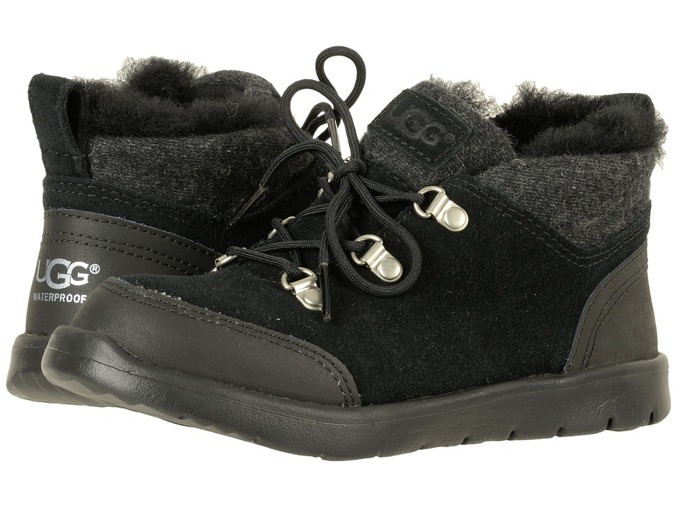 UGG Kids Obie Waterproof (Little Kid/Big Kid) (Black) Kid's Shoes
