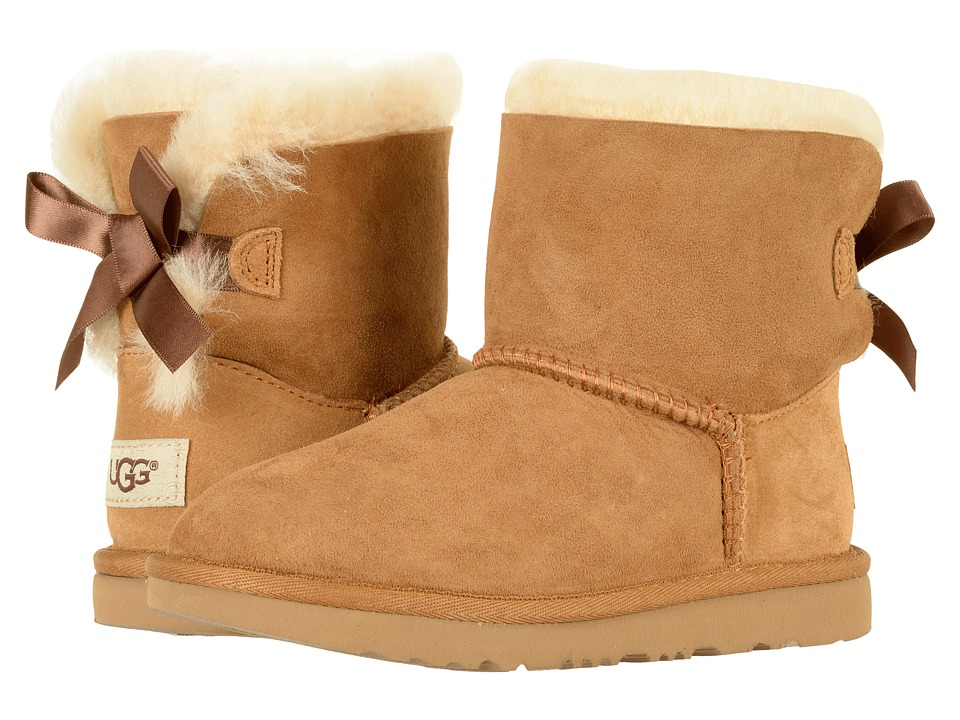 UGG Kids Mini Bailey Bow II (Little Kid/Big Kid) (Chestnut) Girls Shoes
