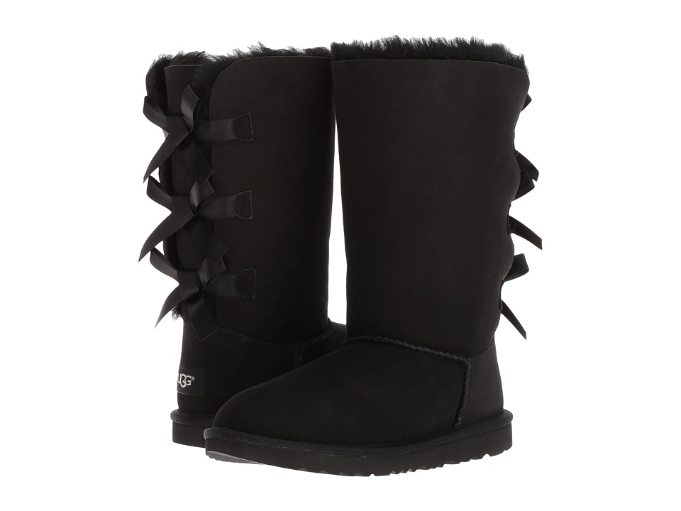Ugg Kids - Bailey Bow Tall II (Little Kid/Big Kid) (Black...