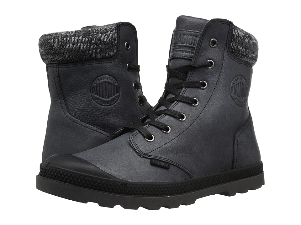 Palladium Pampa Hi Knt LP (Black/Forged Iron) Women