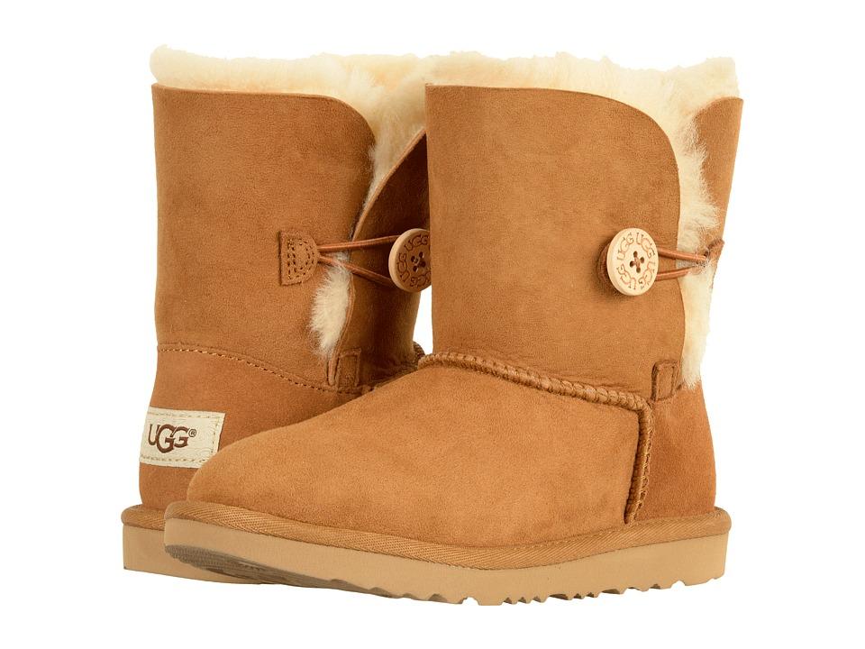 Ugg Kids - Bailey Button II (Little Kid/Big Kid) (Chestnut) Girls Shoes
