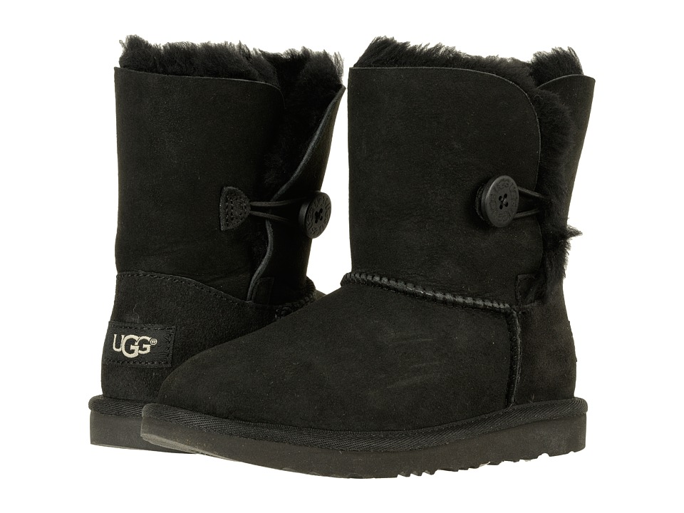 UGG Kids Bailey Button II (Little Kid/Big Kid) (Black) Girls Shoes