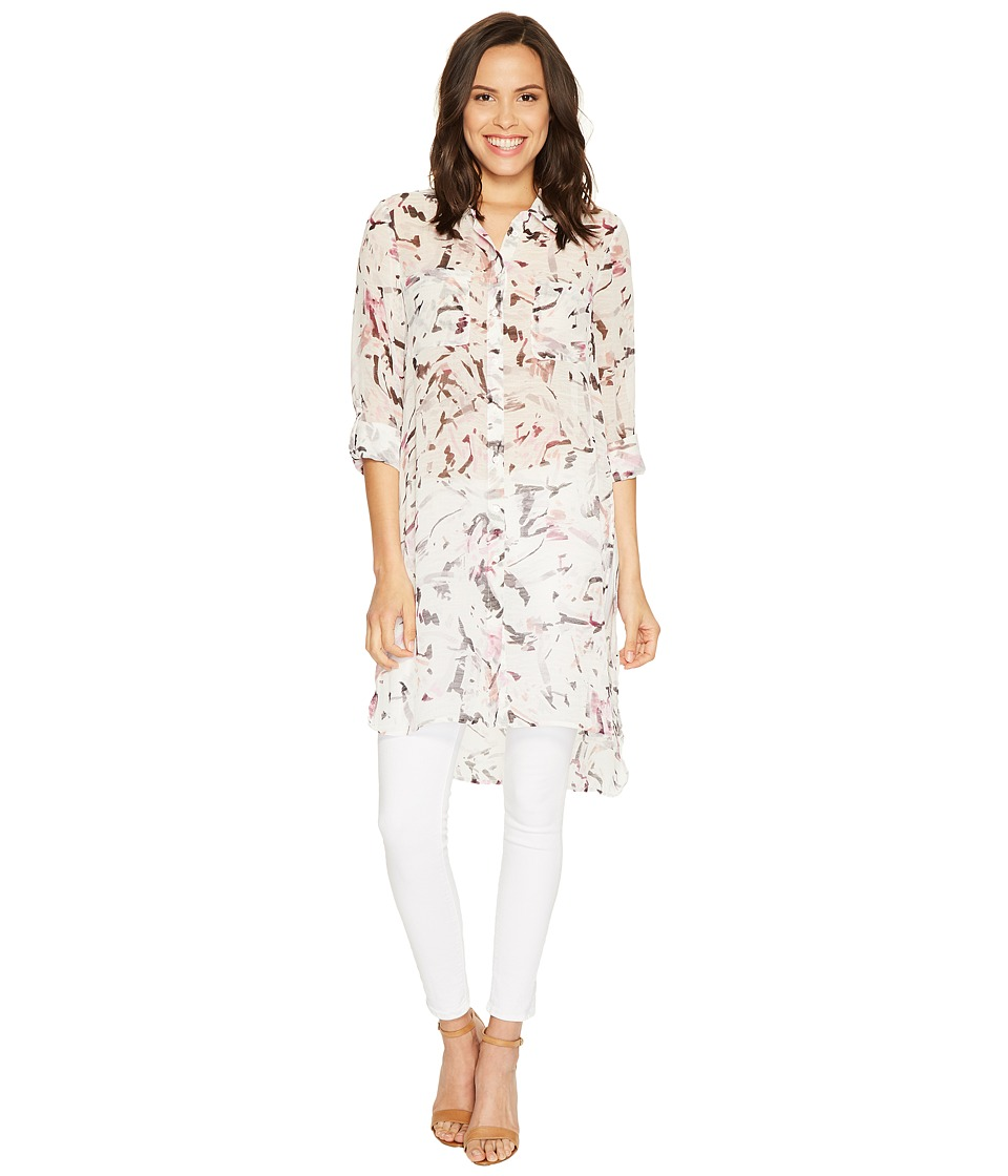 TWO by Vince Camuto - Long Sleeve Painterly Muses Two-Pocket Long Tunic