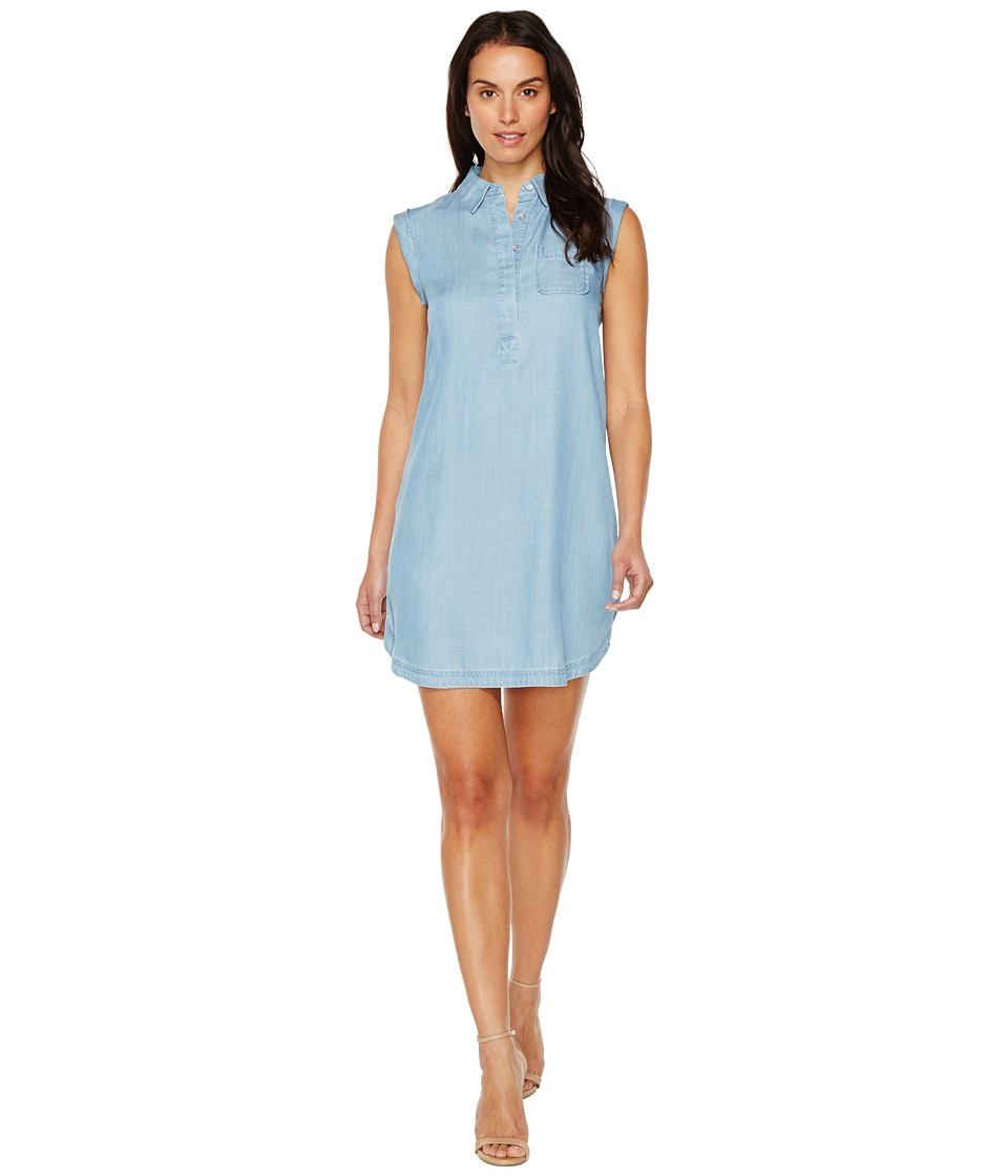 TWO by Vince Camuto - Sleeveless Tencel One-Pocket Henley Popover Dress