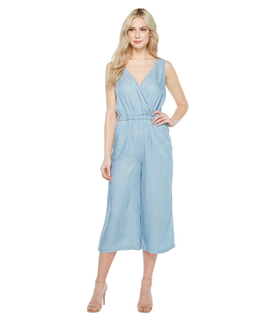 TWO by Vince Camuto - Sleeveless Wrap Top Tencel Cropped Jumpsuit